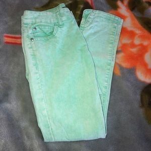 Forever 21 Lime Green Jeans